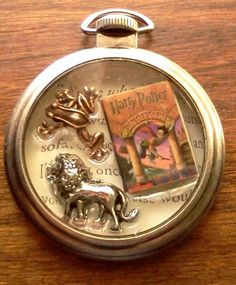 Harry Potter and the Sorcerer's Stone Pocket Watch Themed Pendant Necklace