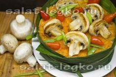 рецепт слоеного салата с грибами