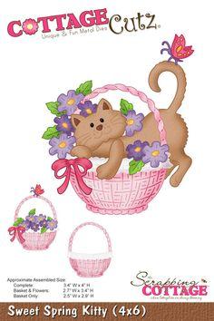 CottageCutz Sweet Spring Kitty (4x6)