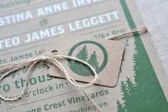Woodland Wedding Invitations by Paper Bloom via Oh So Beautiful Paper