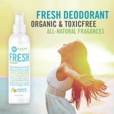 FRESH Deodorant, for men and women, is a non-aerosol spray deodorant that is free from dangerous chemicals like aluminum, glycols and sulfates that are found in many other deodorants and antiperspirants. Instead, Fresh uses naturally derived deodorizers and fragrances. www.healthyhomecompany.com/507343 #healthyhomecompany #healthyhome #healthyhomes #toxicfree #toxicfreehome #toxicfreefamily #toxicfreelifestyle #mommysclub #mommy #family #home #lifestyle #organic #familytime #fresh #deodorant