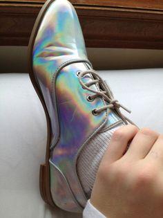 vintage hologram shoes. um... wow. a little scary!