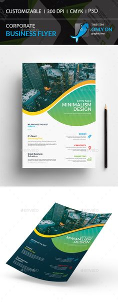 Corporate Flyer by I-Getup Corporate Flyer, Corporate Business, Text Fonts, Business Flyer Templates, Minimal Design, Print Design, Marketing, Flyers, Creative