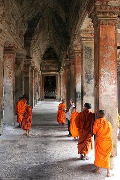 Monks at Angkor Wat | Angkor Wat, Cambodia. | By: dragon caiman