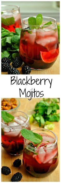 Blackberry Mojitos are a wonderful fusion of blackberry, lime, and mint! 5 minutes and 6 ingredients is all that is needed for this quick and stylish cocktail! #BlackberryAffair #ad