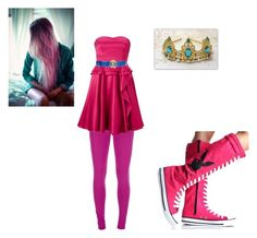 """Prince Gumball(alternate princess bubblegum)"" by avi-rae ❤ liked on Polyvore featuring Maison Margiela, Monsoon and Roberto Cavalli"