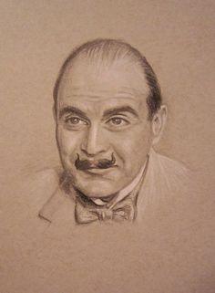 Hercule Poirot - pencil on toned paper by auggie101 Absolutely AMAZING work!