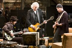 Edge, Jimmy Page & Jack White 2008