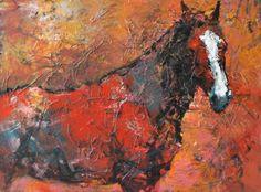 Two Horse Heads by Susan Easton Burns. Georgia artist. Love her work.