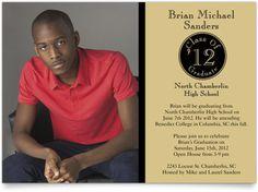 Linen Graduation Announcements - Class Medallion