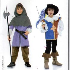 Burda 9659 Toddlers Childs Boys Musketeer Page Costume Sewing Pattern Size 4…