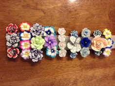 60mm-80mm barrettes with polymer flowers