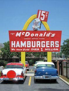 1950s McDonald's, located in Des Plaines, suburb of Chicago!