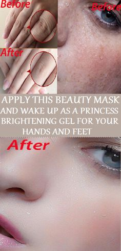 APPLY THIS BEAUTY MASK AND WAKE UP AS A PRINCESS. BRIGHTENING GEL FOR YOUR HANDS AND FEET
