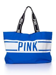VS PINK Large Tote Bag in Majorelle Blue