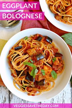 Eggplant Bolognese is a vegan version of the traditional Italian meat sauce. It's rich, hearty, and loaded with flavor from garlic, chili flakes, and olives.