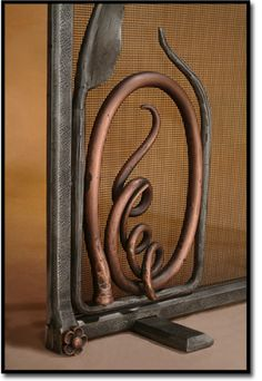 Los Angeles custom fireplace screens - saw these in another piece - such lovely work, and a local place!