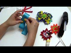 lindas flores en cinta delgada para decorar centros de lazos moños para ...