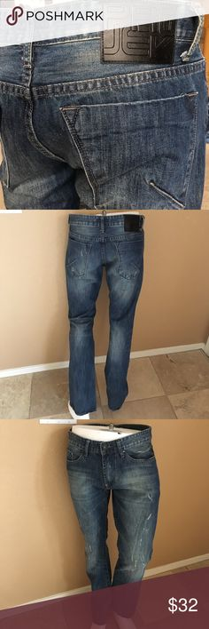 Men's Projek Raw Jeans! 88. Men's Projek Raw Dark Wash, Distressed, Slim Fit, Straight Leg Jeans! Size 34/30. In excellent condition only worn a couple times! Projek Raw Jeans Slim Straight