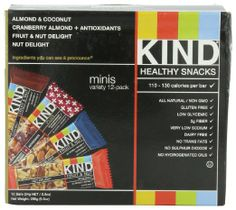 ❏ Protein / Energy Bars (Qty 6) These are low sugar!  KIND Minis Variety Pack, 12-Count, 0.8oz: Amazon.com: Grocery & Gourmet Food