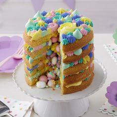 Easy Layers! Round Layer Cake Pans Set, 4-Piece | Wilton Wilton Cakes, Fondant Cakes, Easter Candy, Easter Treats, Easter Food, Easter Dinner, Easter Baking Ideas, Easter Snacks, Gastronomia