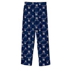 MLB New York Yankees Printed Pant Boys'  http://allstarsportsfan.com/product/mlb-new-york-yankees-printed-pant-boys/  100% polyester jersey Over all MLB team print Official MLB product