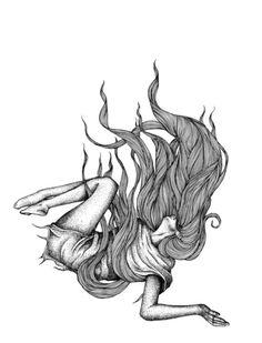 Image result for girl falling (illustration, drawing, art)