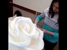 Школа больших цветов Светланы Копцевой . ростовые цветы, цветы из изолона - YouTube