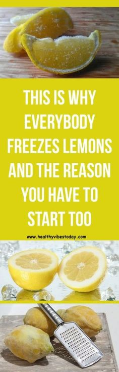 Lemons are among the favorite tropical fruits in America. A cross between citrons and limes, lemons have bright yellow skin and their juice is normally used to improve hot teas or cold water taste. Healthy Tips, Healthy Snacks, Healthy Recipes, Healthy Fruits, Eating Healthy, Freezing Lemons, Can You Freeze Lemons, Cooking Tips, Cooking Recipes