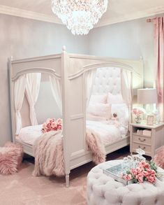 Our inner child just squealed with delight! Loving this magical room from Use for a chance to be featured next week! Our inner child just squealed with delight! Loving this magical room from Use for a chance to be featured next week! Cute Bedroom Ideas, Cute Room Decor, Girl Bedroom Designs, Girls Pink Bedroom Ideas, 4 Year Old Girl Bedroom, Bedroom Styles, Design Bedroom, Dream Rooms, Dream Bedroom