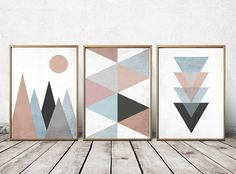 Wall Art Prints - Abstract Art Prints - Geometric Decor- Abstract Wall Art - Abstract Art Print - Nordic Art - Triangle Art by PrintEclipse on Etsy https://www.etsy.com/listing/245438244/wall-art-prints-abstract-art-prints