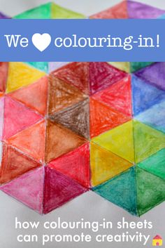 Colouring in sheets to promote kids creativity