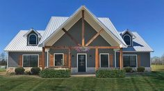 Barn Style House Plans, Metal Building House Plans, Steel Building Homes, New House Plans, Dream House Plans, Pole Building House, Dream Home Design, House Design, Pole Barn Homes
