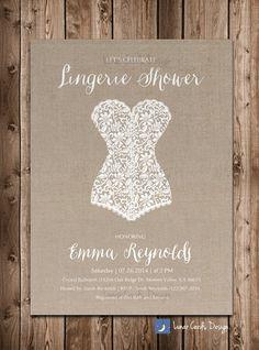 lingerie shower,bridal shower,lingerie invitation,bridal shower invitation,lingerie bridal invitation,burlap invitation