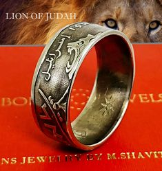 Lion Ring Engagement Ring Lion of Judah Men Rings Women Rings Statement Ring Boyfriend Gift Girlfriend Gift Mom Gift Dad Gift Coin Ring Silver Ring Anniversary Ring coin Rings Israelite Ring Coin Ring, Ring Verlobung, Signet Ring, Tribe Of Judah, Coin Jewelry, Etsy Jewelry, Lion Of Judah, Jewish Gifts, Personalized Rings