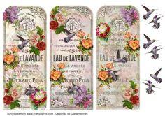 Vintage Bookmark with Humming Birds on Craftsuprint - Add To Basket!