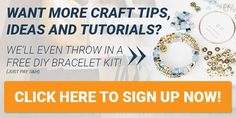 Want more craft tips, ideas and tutorials? Click here to sign up NOW!