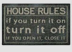 House Rules Doormat