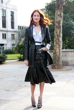 Celine long pleated leather skirt | Lovely Fashion | Pinterest ...