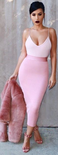 Pretty In Pink // Top & Skirt @hotmiamistyles //   Fashion Look by  amrezy