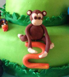 Petiscos da Sofia: Bolo de aniversário animais da selva Christmas Ornaments, Holiday Decor, Jungle Animals, Toddler Boy Birthday, Birthday Cakes, Snacks, Toddler Girls, Cupcake, Decorating Cakes
