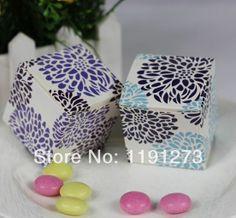 New Arrival Lovely European Damask Favor Box 30PCS/LOT wedding favor box Free shipping US $16.99