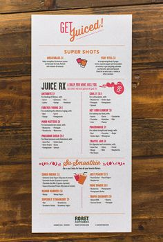 The kind of menu design you'd like to see more often. Good layout, well-organized, great use of typography, and just cool.