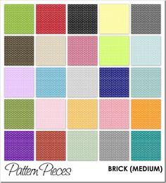 Pattern Pieces - Brick (Medium) - bjl