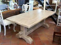 Κάντε click για μεγέθυνση Dinner Table, Rustic, Dining, Tables, Furniture, Home Decor, White Wood, Houses, Dining Room