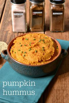 This pumpkin hummus recipe is a healthy appetizer that highlights the flavors of fall with my favorite seasonal spices. Perfect for a Halloween party! @WorldMarket #WorldMarketMA #sponsored