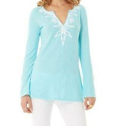 Lilly Pulitzer Westley Tunic in Spa Blue