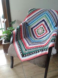 Eu que fiz!! JUD artes Manta crochet !!!