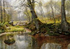 Работы художника Peder Mørk Mønsted (Петер Мёрк Мёнстед 1859 г. - 1941 г.). Часть 3. (45 фото)
