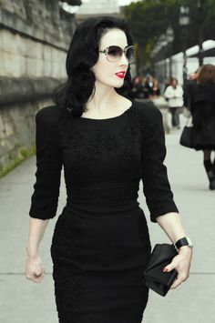 Dita rocking a black dress x
